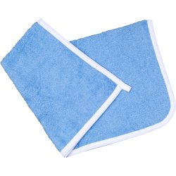 Azure hand towel - white trim