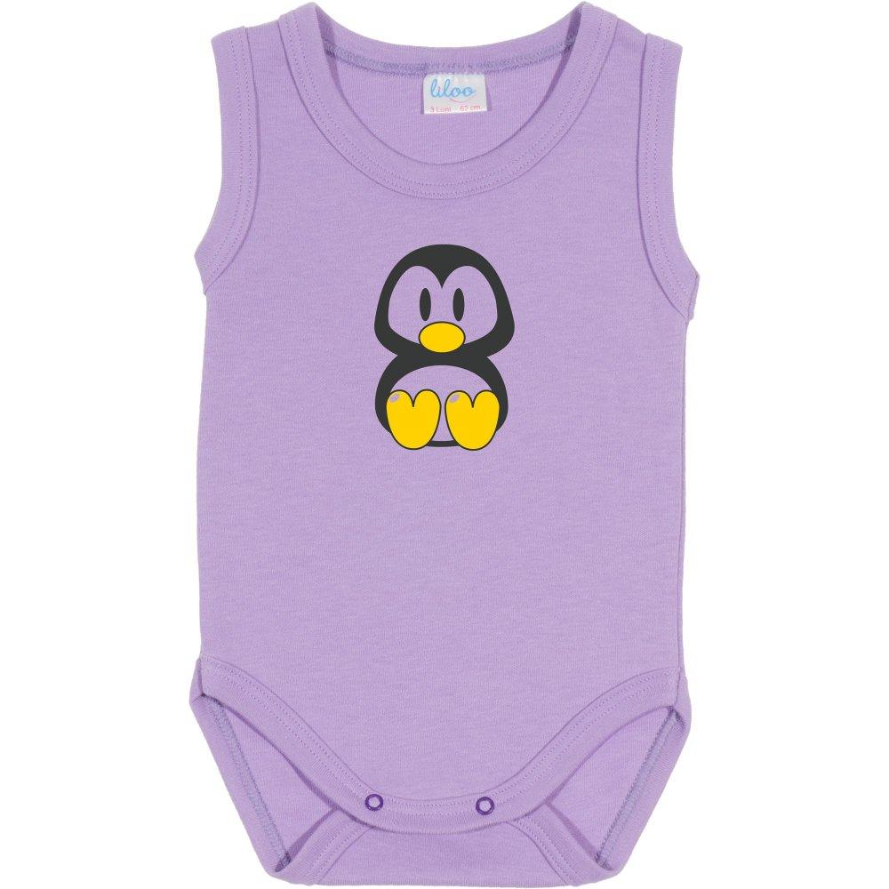 Body maiou violet imprimeu pinguinul Tux | liloo