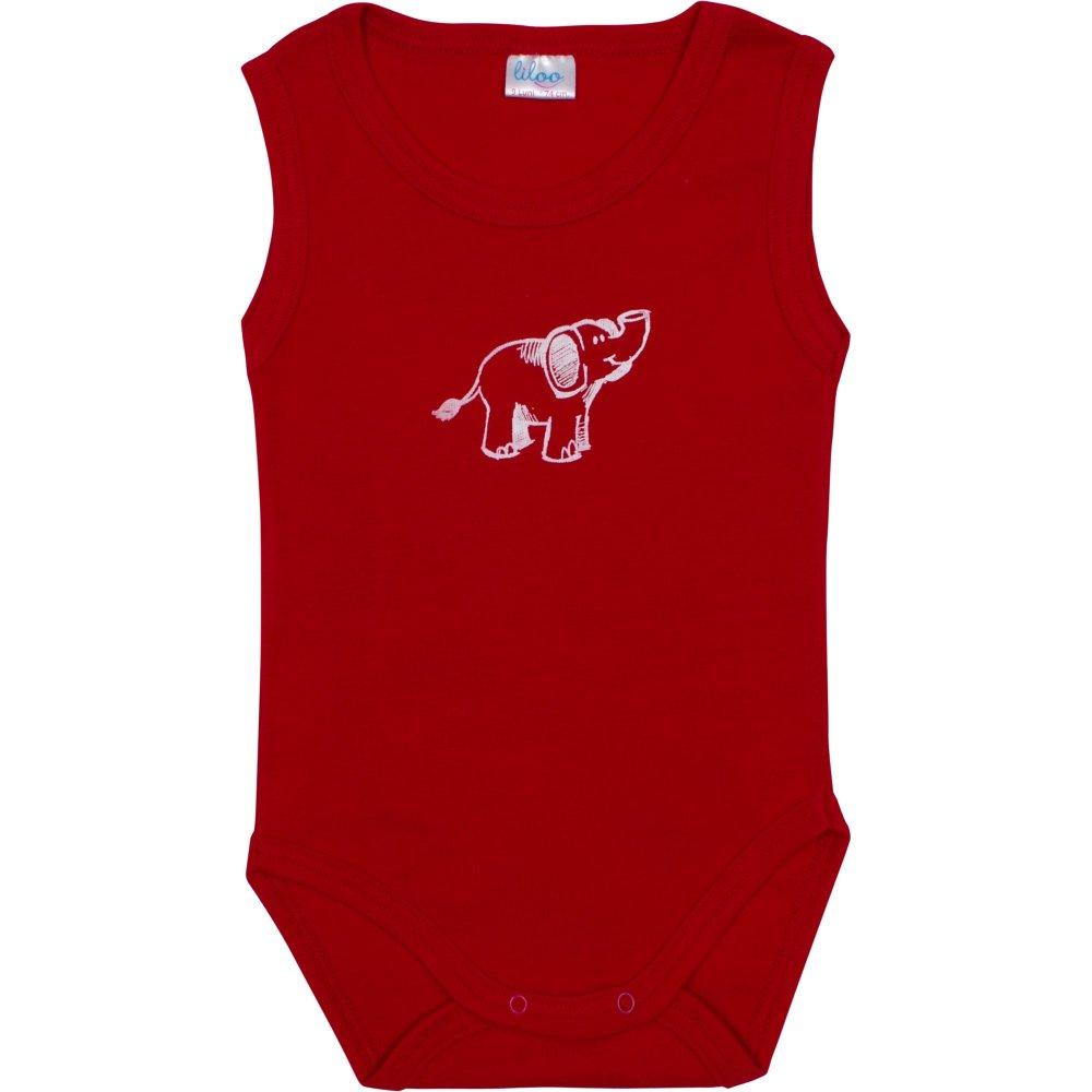 Body maiou roșu imprimeu elefănțel | liloo