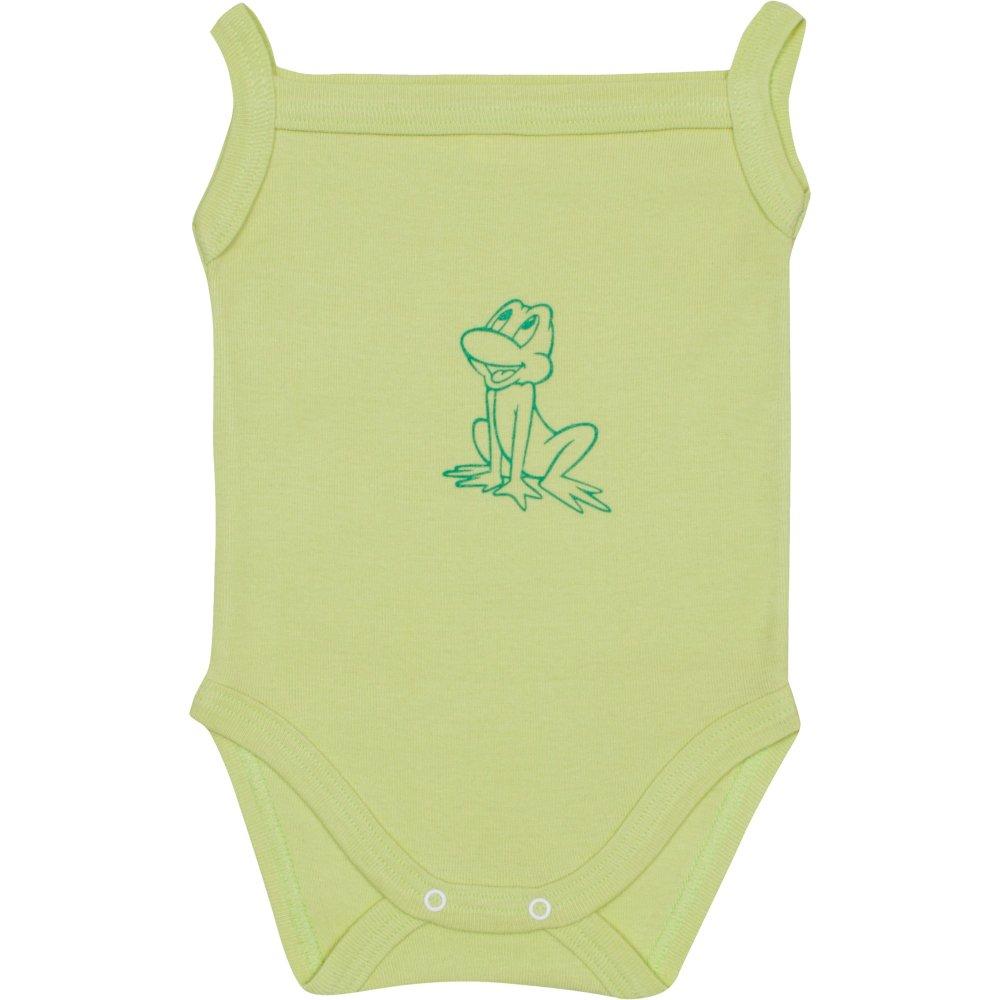 Body maiou bretele verde lime imprimeu broscuță | liloo