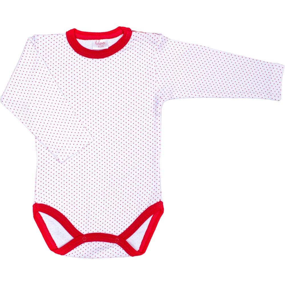 Body mânecă lungă alb buline roșii | liloo
