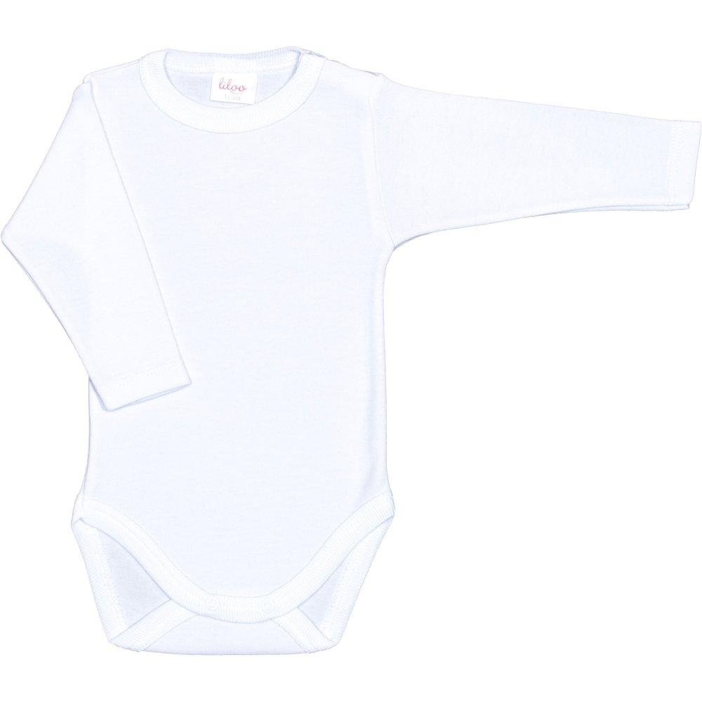 Body mânecă lungă alb uni | liloo