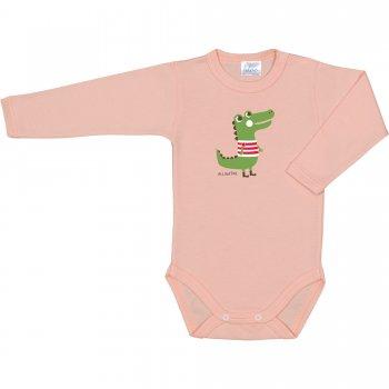 Body mânecă lungă somon imprimeu aligator | liloo