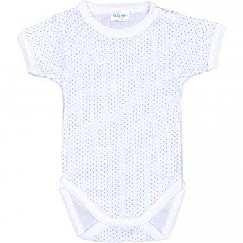 Body mânecă scurtă alb buline azur | liloo