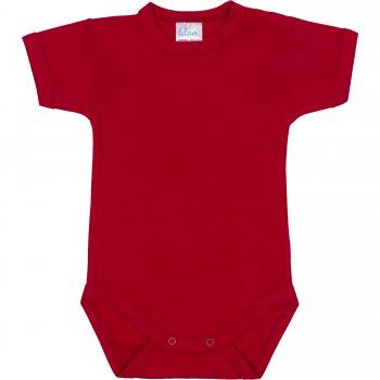 Body mânecă scurtă roșu uni | liloo