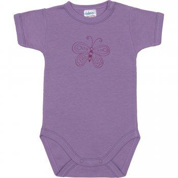 Body mânecă scurtă violet imprimeu fluturaș | liloo