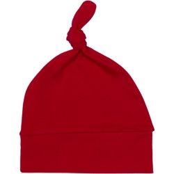 Red baby hat with tassel