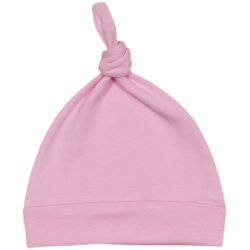 Pink baby hat with tassel