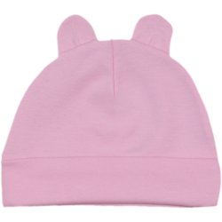 Pink baby hat with toy ears