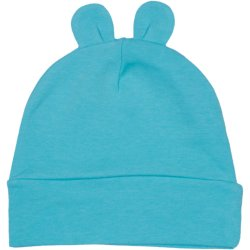 Aqua baby hat with toy ears