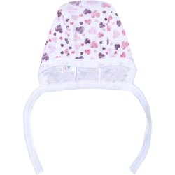 White with hearts baby bonnet