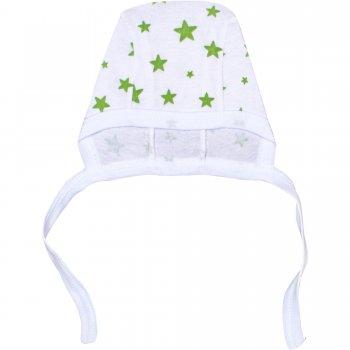 Căciuliţă albă cu steluțe verzi