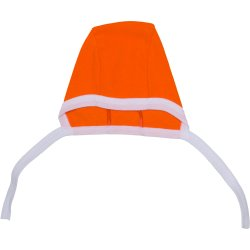 Orange & white baby bonnet
