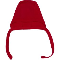 Red baby bonnet