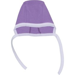 Purple & white baby bonnet
