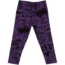 Colanți violet imprimeu model muzică