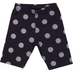 Dark grey with light grey dots short leggings