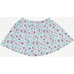 Cream colored skirt with flowers allover print