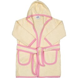 Ivory & pink bathrobe