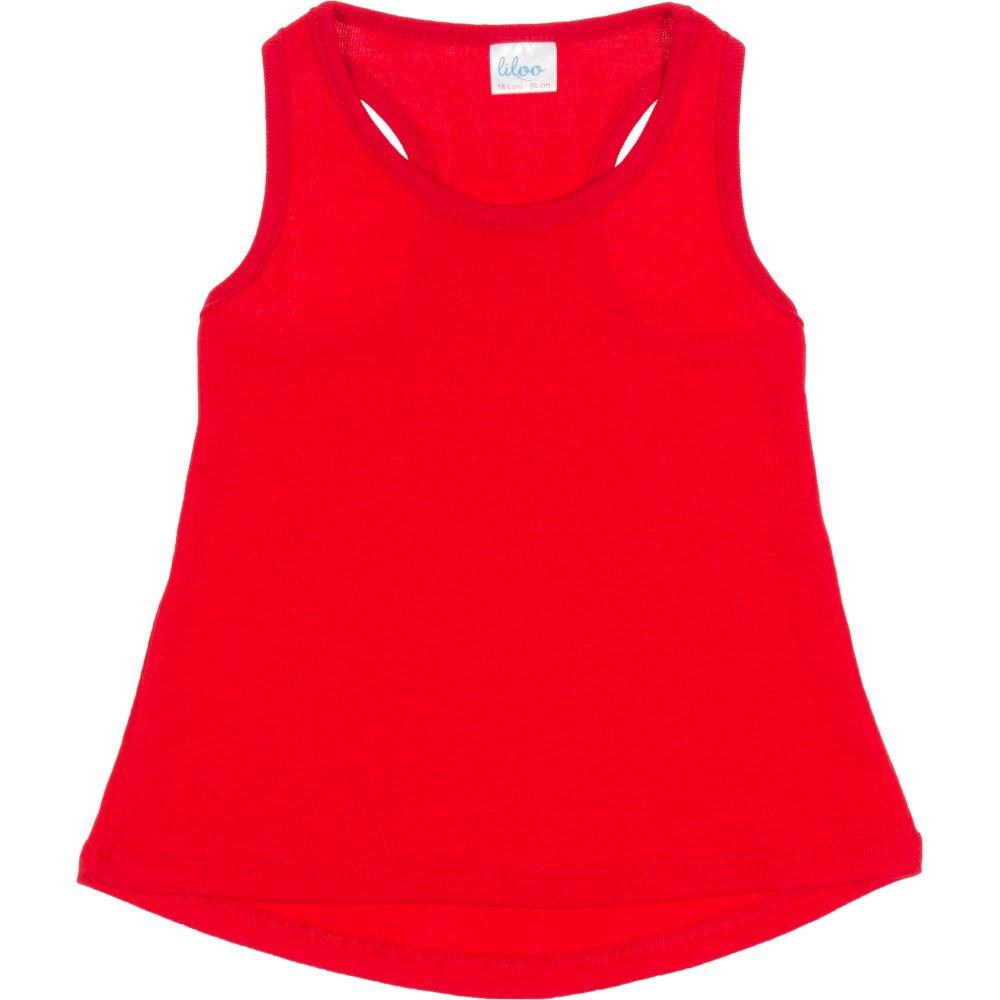 Maiou roșu rotunjit pentru fetițe | liloo