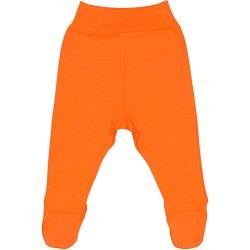 Pantaloni cu botoşei bandă portocalii