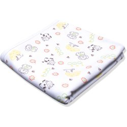 Double layer blanket with animals print