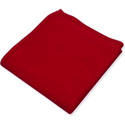 Păturică groasă (dublă) roșie uni