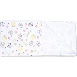 White single layer blanket with animals pattern print