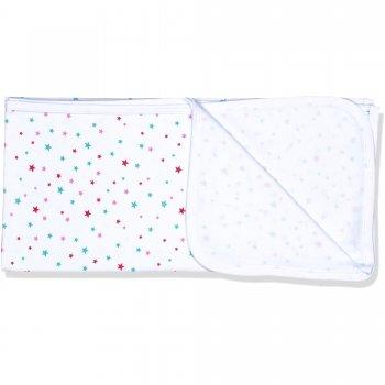 Păturică simplă albă cu imprimeu model steluțe | liloo