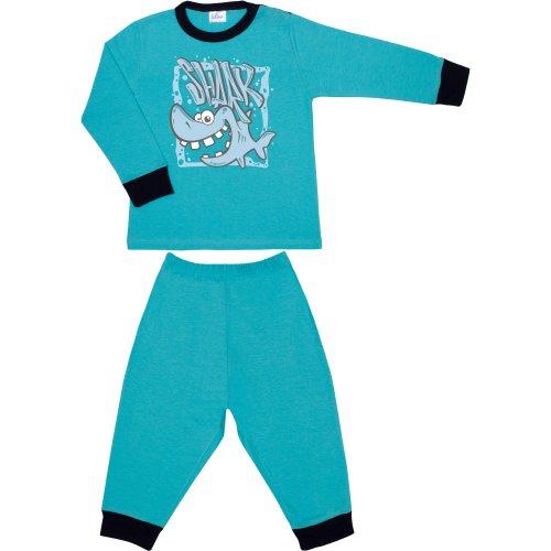 """Pijamale primăvară-toamnă aqua imprimeu """"shark"""""""