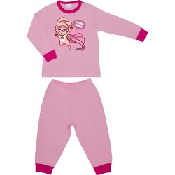 Pink long-sleeve thin pajamas with super bunny print