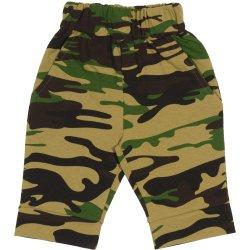 Pantaloni trei sferturi imprimeu model camuflaj