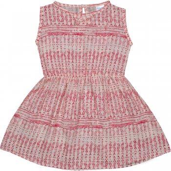 Rochiță de vară crem model popular stilizat roșu   liloo