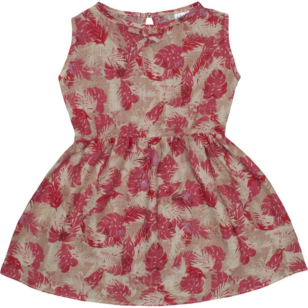 Rochiță de vară crem model frunzulițe | liloo