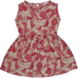 Rochiță de vară crem model frunzulițe