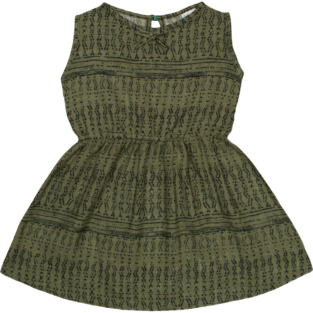 Rochiță de vară verde olive model popular stilizat gri | liloo