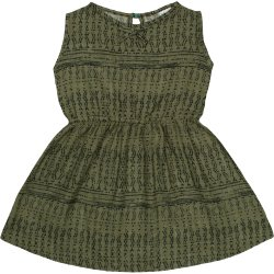 Rochiță de vară verde olive model popular stilizat gri