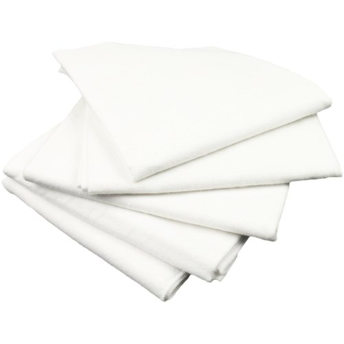 Scutece finet (bumbac) albe - lavabile și refolosibile - set economic 5 bucăți