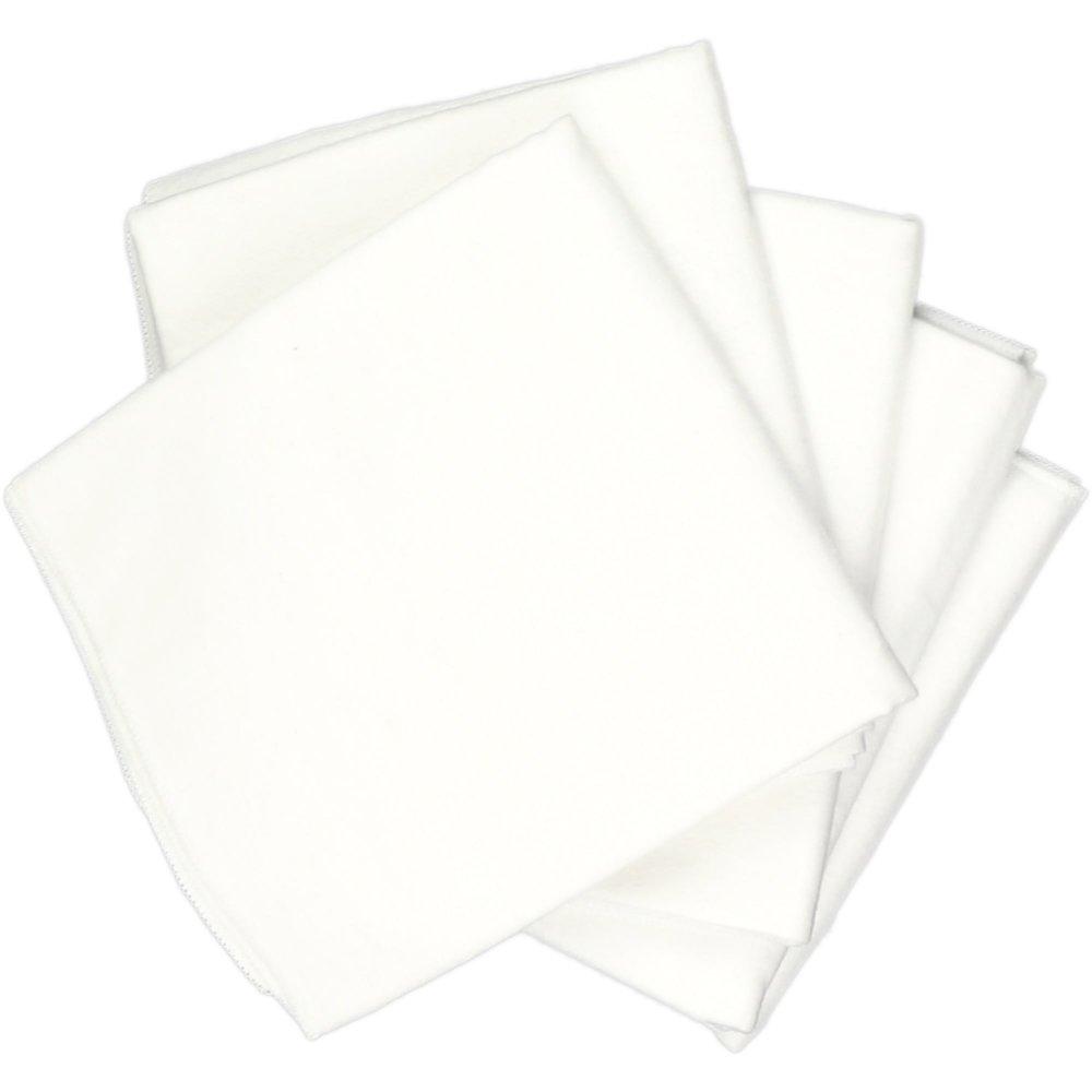 Scutece mari finet (bumbac) albe - lavabile și refolosibile - set economic 5 bucăți | liloo