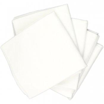 Scutece mari finet (bumbac) albe - lavabile și refolosibile - set economic 5 bucăți