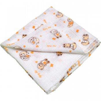 Scutec tetra (bumbac) alb cu imprimeu ursuleți - lavabil și refolosibil | liloo