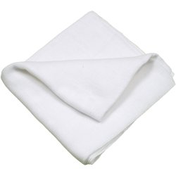 White washable reusable tetra diaper cloth