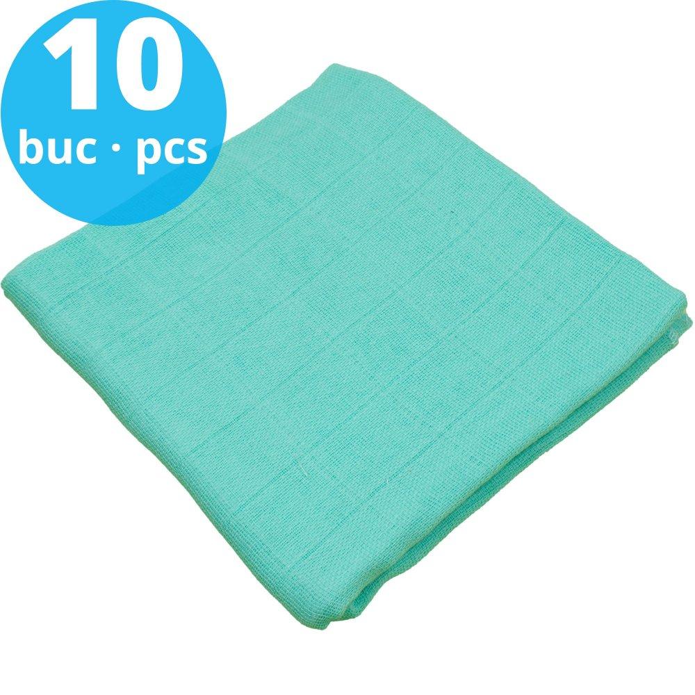 Pachet economic 10 scutece tetra (bumbac) aqua - lavabile și refolosibile | liloo