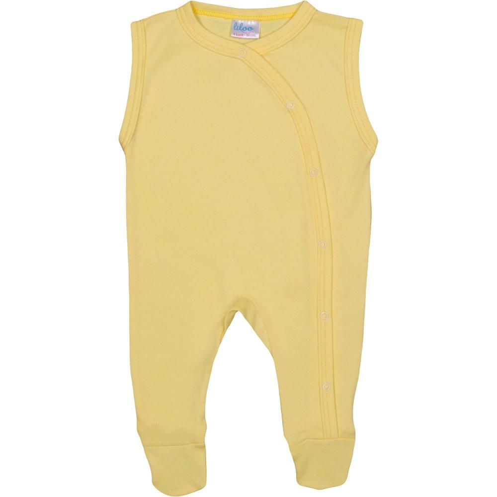 Salopetă fără mâneci - pantaloni cu botoșei galben uni | liloo