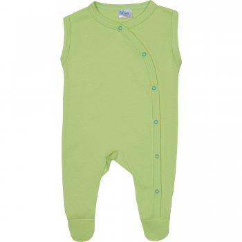 Salopetă fără mâneci - pantaloni cu botoșei verde lime uni | liloo