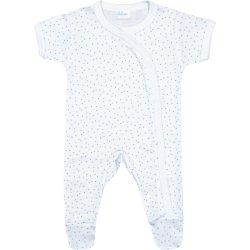 Salopetă mânecă scurtă și pantaloni cu botoșei albă buline multicolore