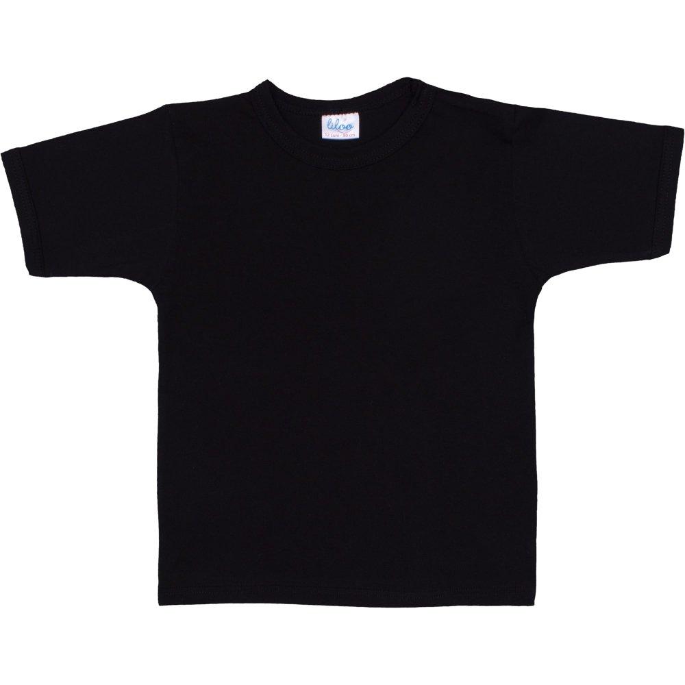 Tricou mânecă scurtă negru | liloo