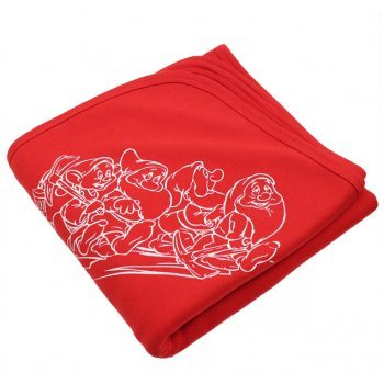 Păturică groasă dublă roșie imprimeu pitici | liloo