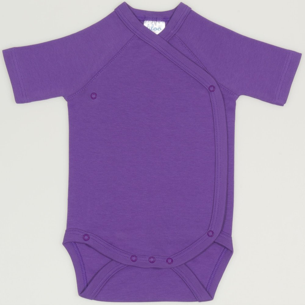 Body capse laterale maneca scurta mov deep lavender uni | liloo
