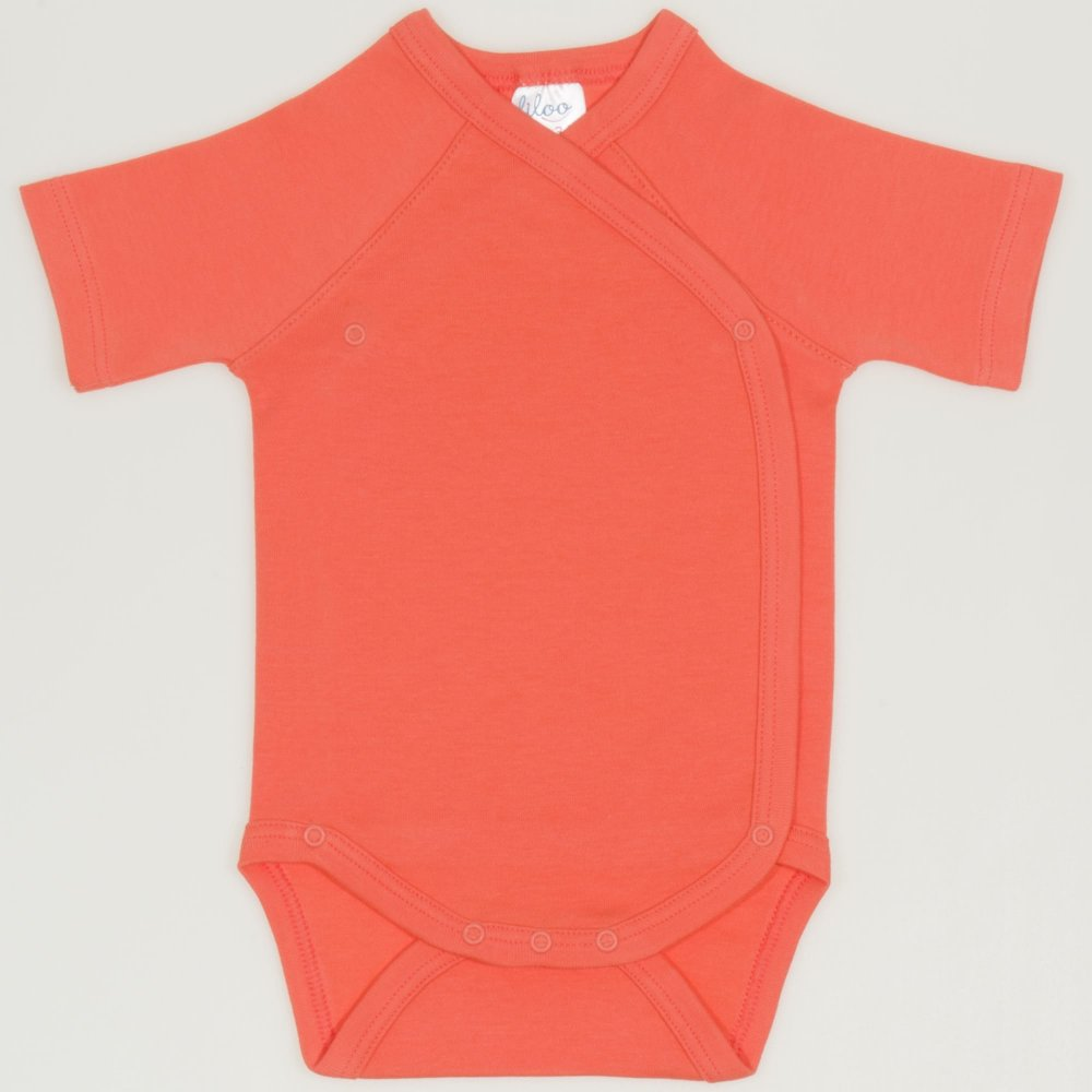 Body capse laterale maneca scurta somon living coral uni | liloo